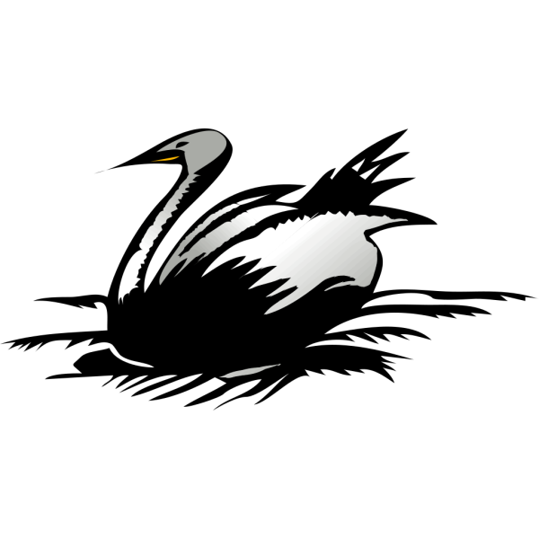 Resting Swan PNG images