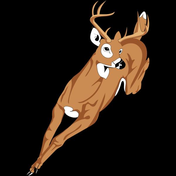 Running Deer Clip art - Animal - Download vector clip art online