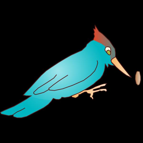 Blue Cartoon Woodpecker PNG Clip art