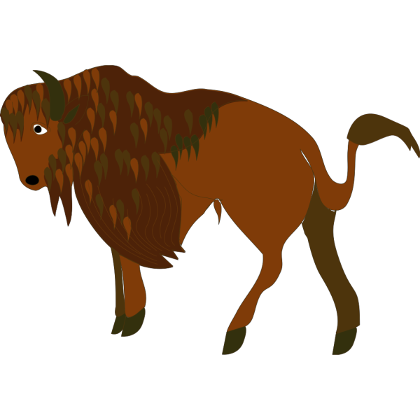 Running Cartoon Bison PNG Clip art