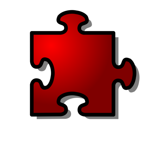 Jigsaw Red 10 PNG images
