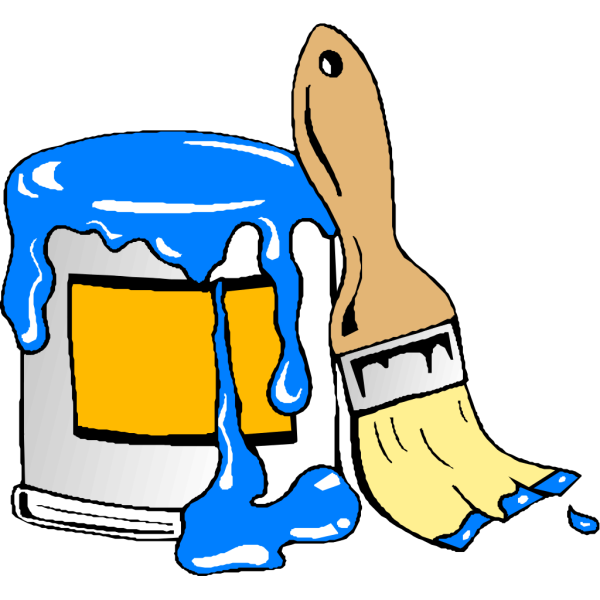 Paint Can Brush PNG Clip art