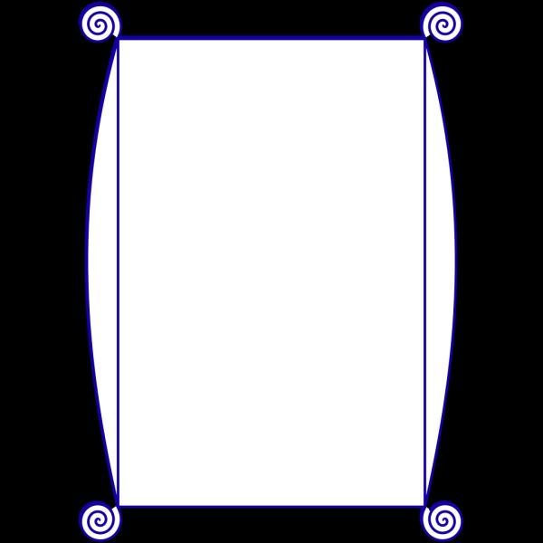 Blue Spiral Border PNG Clip art