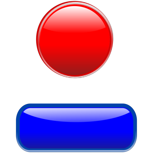 Glossy Button With Bezel PNG Clip art
