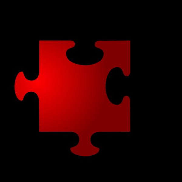 Jigsaw Red 10 PNG Clip art