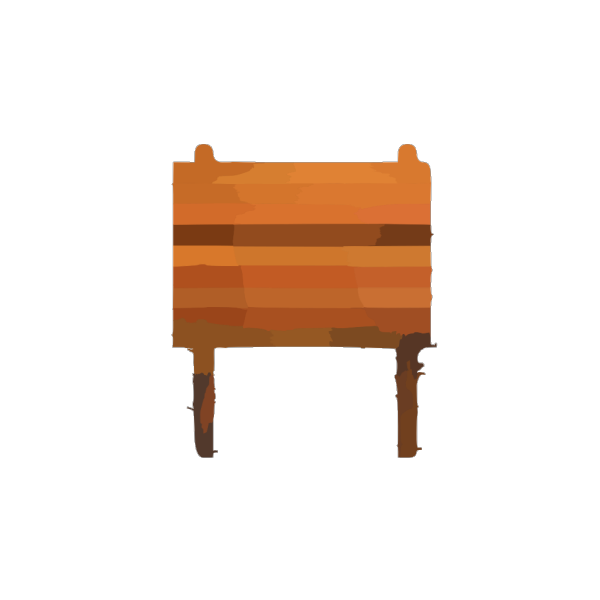 Collapsible Wooden Table PNG Clip art