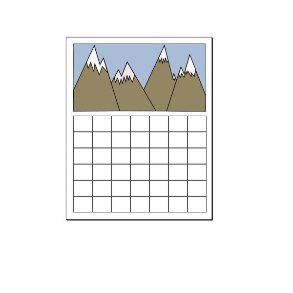 Blue Calendar PNG images