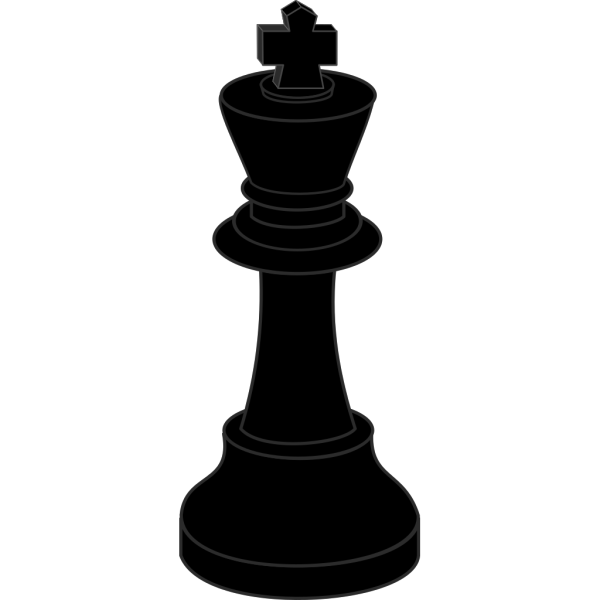 Chess Piece Black Bishop PNG Clip art