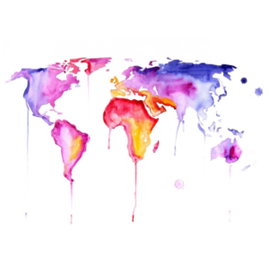 Abstract World Map PNG Clipart PNG icon