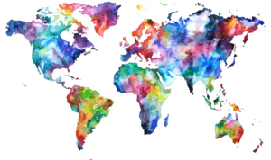 Abstract World Map PNG Free Download PNG image