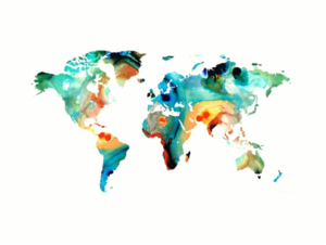 Abstract World Map PNG Image PNG Clip art