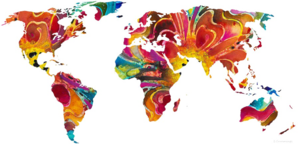 Abstract World Map PNG Pic PNG Clip art