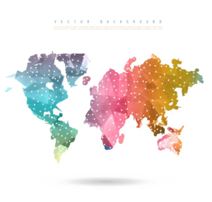 Abstract World Map PNG Picture PNG Clip art