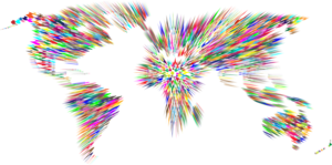 Abstract World Map PNG Transparent Image PNG clipart