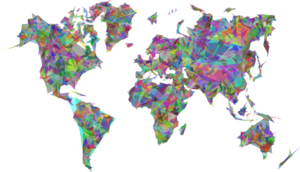 Abstract World Map PNG Transparent PNG icon