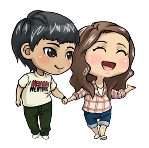 Anime Love Couple PNG File PNG Clip art