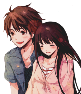 Anime Love Couple PNG Free Download PNG Clip art