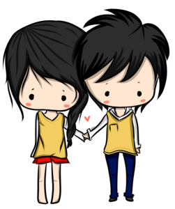 Anime Love Couple PNG HD PNG Clip art
