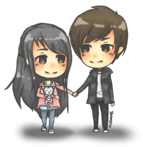 Anime Love Couple PNG Image PNG Clip art