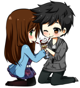 Anime Love Couple PNG Photo PNG Clip art