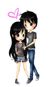 Anime Love Couple PNG Transparent Image PNG Clip art