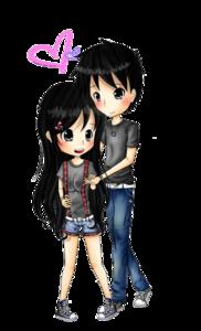 Anime Love Couple PNG Transparent Image PNG Clip art