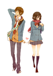 Anime Love Couple Transparent Background PNG Clip art