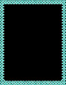 Aqua Border Frame PNG Clipart PNG Clip art