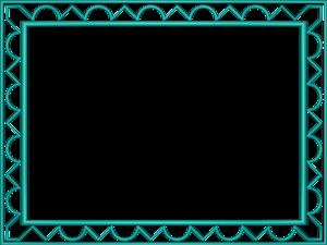 Aqua Border Frame Transparent Background PNG Clip art
