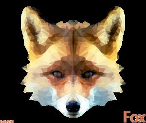 Artistic Fox Transparent Background PNG Clip art