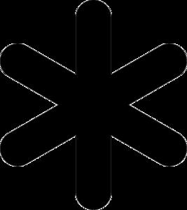 Asterisk Background PNG PNG image