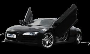 Audi R8 Black Matte PNG PNG Clip art