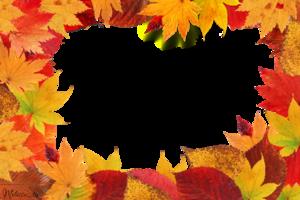 Autumn Leaf Frame PNG PNG Clip art