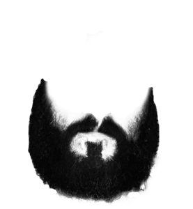 Beard Clip Art Black And White PNG PNG Clip art