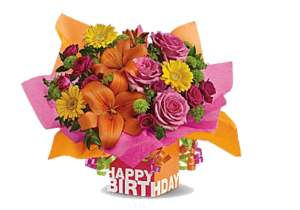 Birthday Flowers Bouquet PNG Clipart PNG Clip art