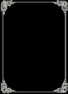Black Border Frame PNG File PNG Clip art