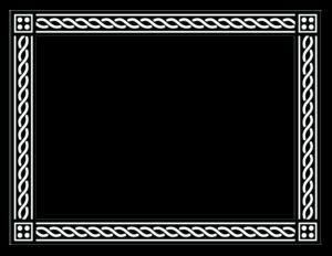 Black Border Frame PNG Free Download PNG Clip art