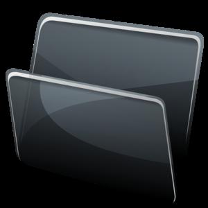 Black Folder PNG PNG Clip art