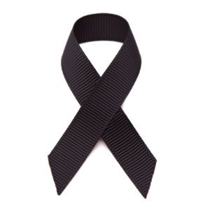 Black Ribbon Transparent Background PNG Clip art