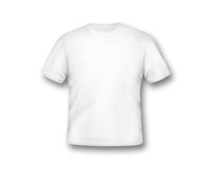 Blank White T-Shirt Template PNG PNG Clip art