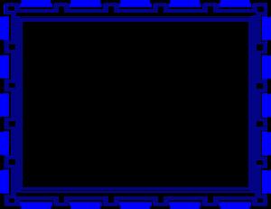 Blue Border Frame PNG Image PNG Clip art