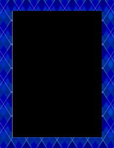 Blue Border Frame PNG Pic PNG Clip art