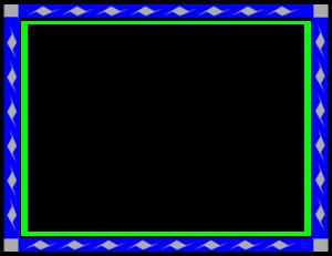 Blue Border Frame Transparent Background PNG Clip art