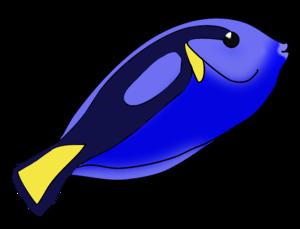 Blue Fish PNG Image PNG Clip art