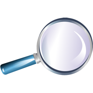 Blue Magnifying Glass Icon PNG PNG Clip art