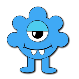 Blue Monster PNG File PNG Clip art