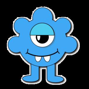 Blue Monster PNG File PNG Clip art