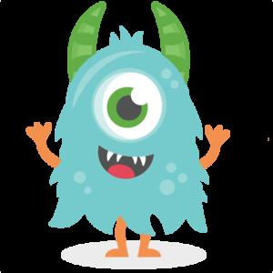 Blue Monster PNG HD PNG Clip art