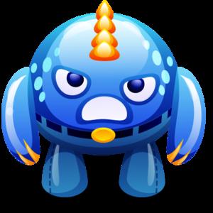 Blue Monster PNG Image PNG Clip art