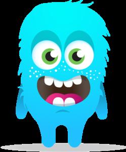 Blue Monster Transparent Background PNG Clip art